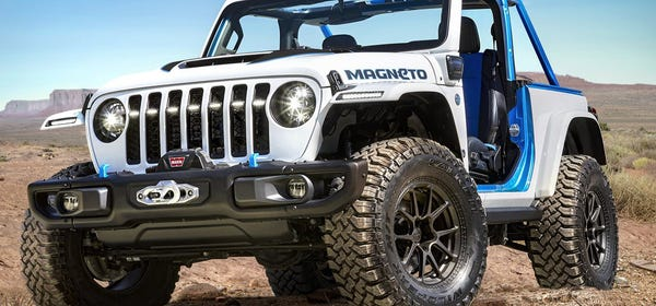 Jeep's Concept Wrangler EV is Surprisingly a Six-Speed Manual