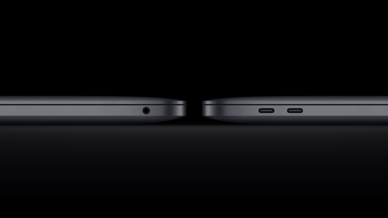 The MacBook Pro's limited port selection.