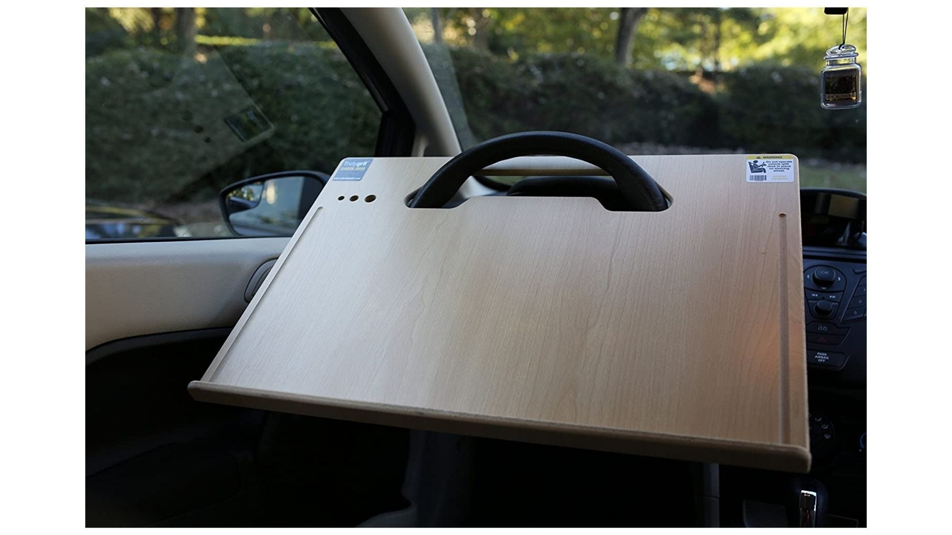 wheeldesk over the steering wheel car desk