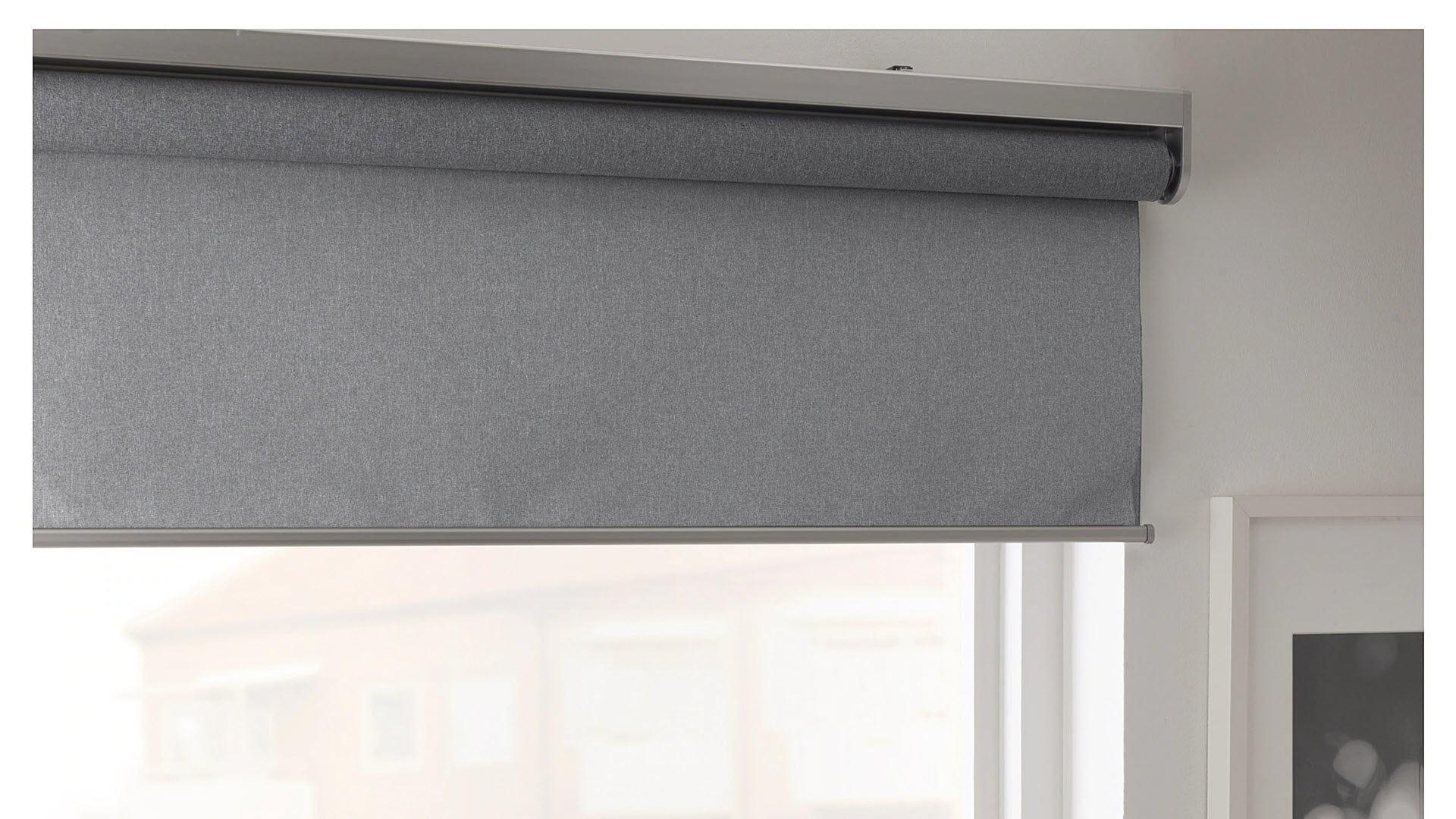 A set of IKEA Fyrtur smart blinds.
