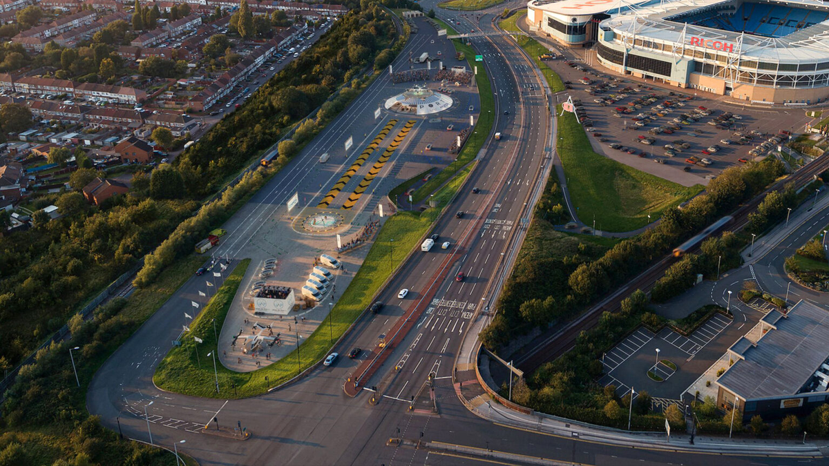 Urban Air Ports projected site in Coventry, UK