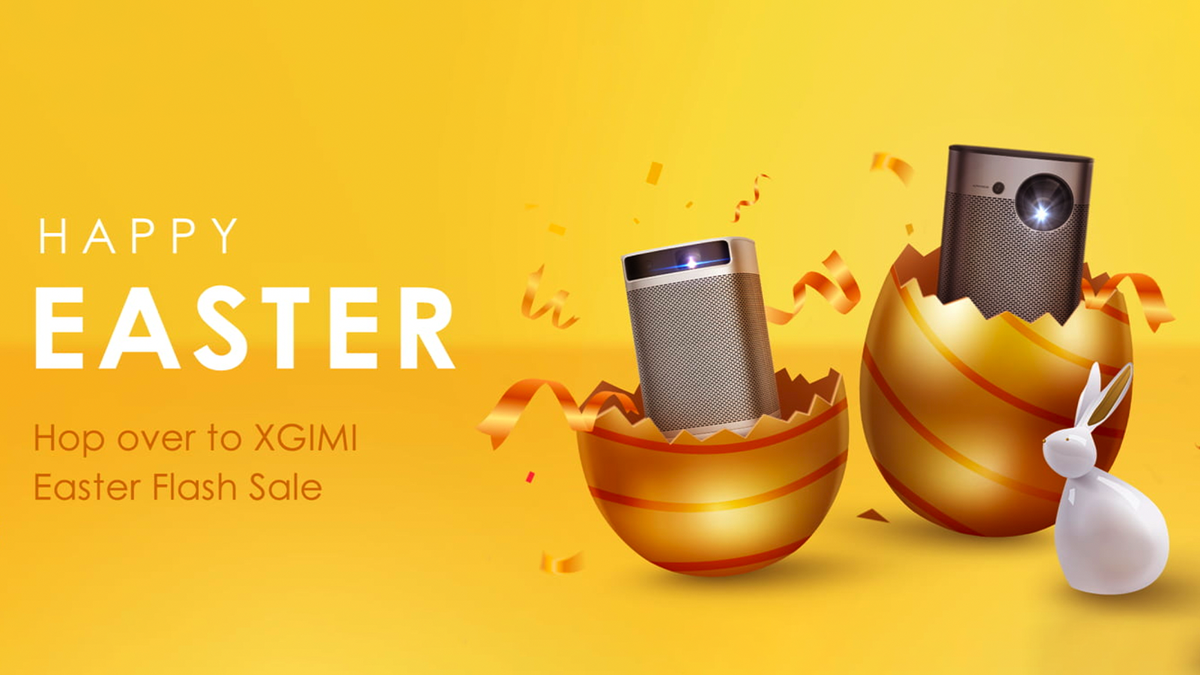 The XGIMI Easter Sale banner.