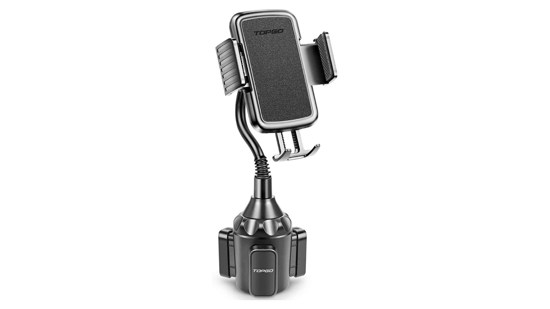 topgo cup holder phone mount for car