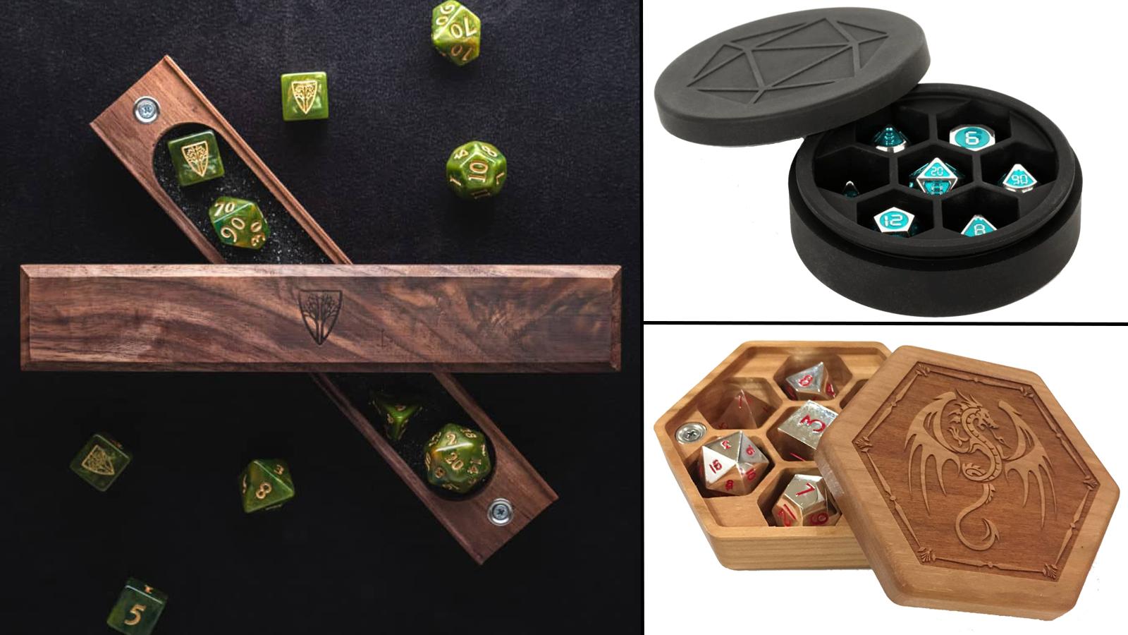 Various dice vaults