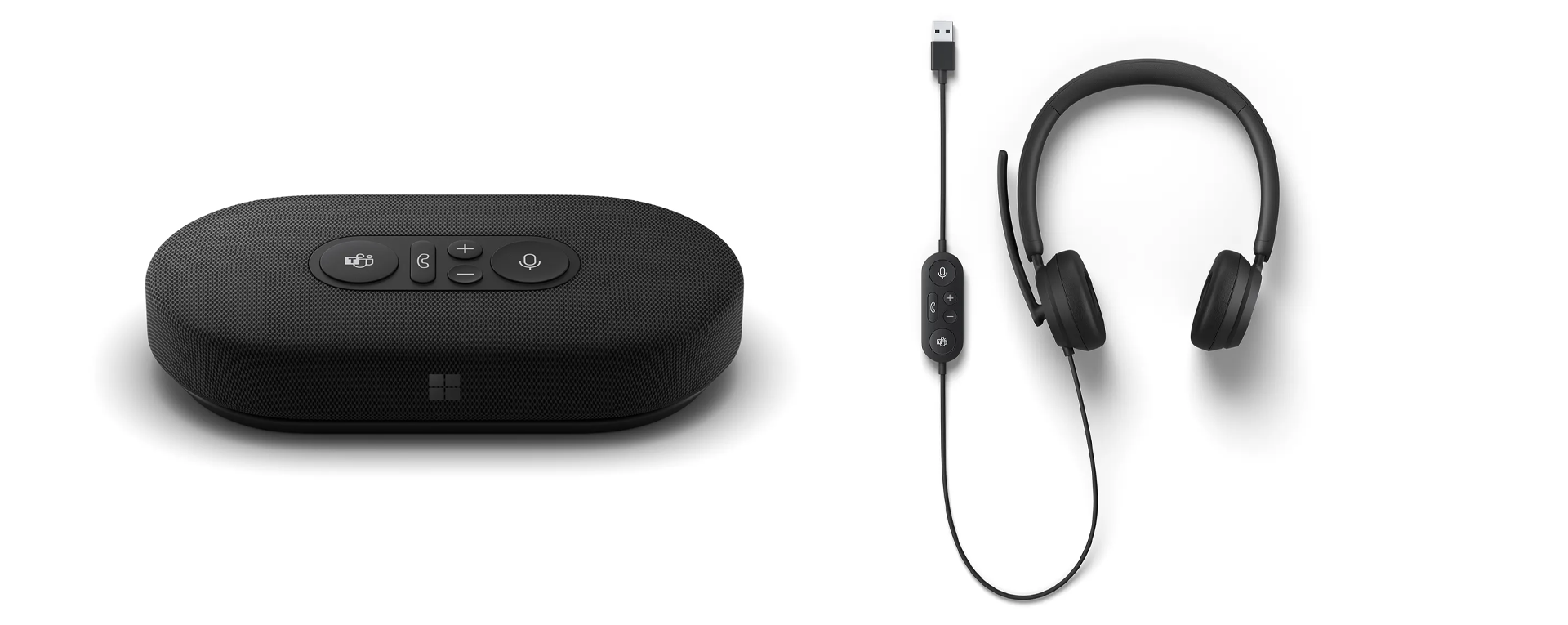 The Microsoft Modern USB-C Speaker and Headset.