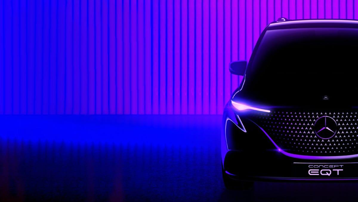 New Concept EQT Mercedes-Benz electric minivan teaser