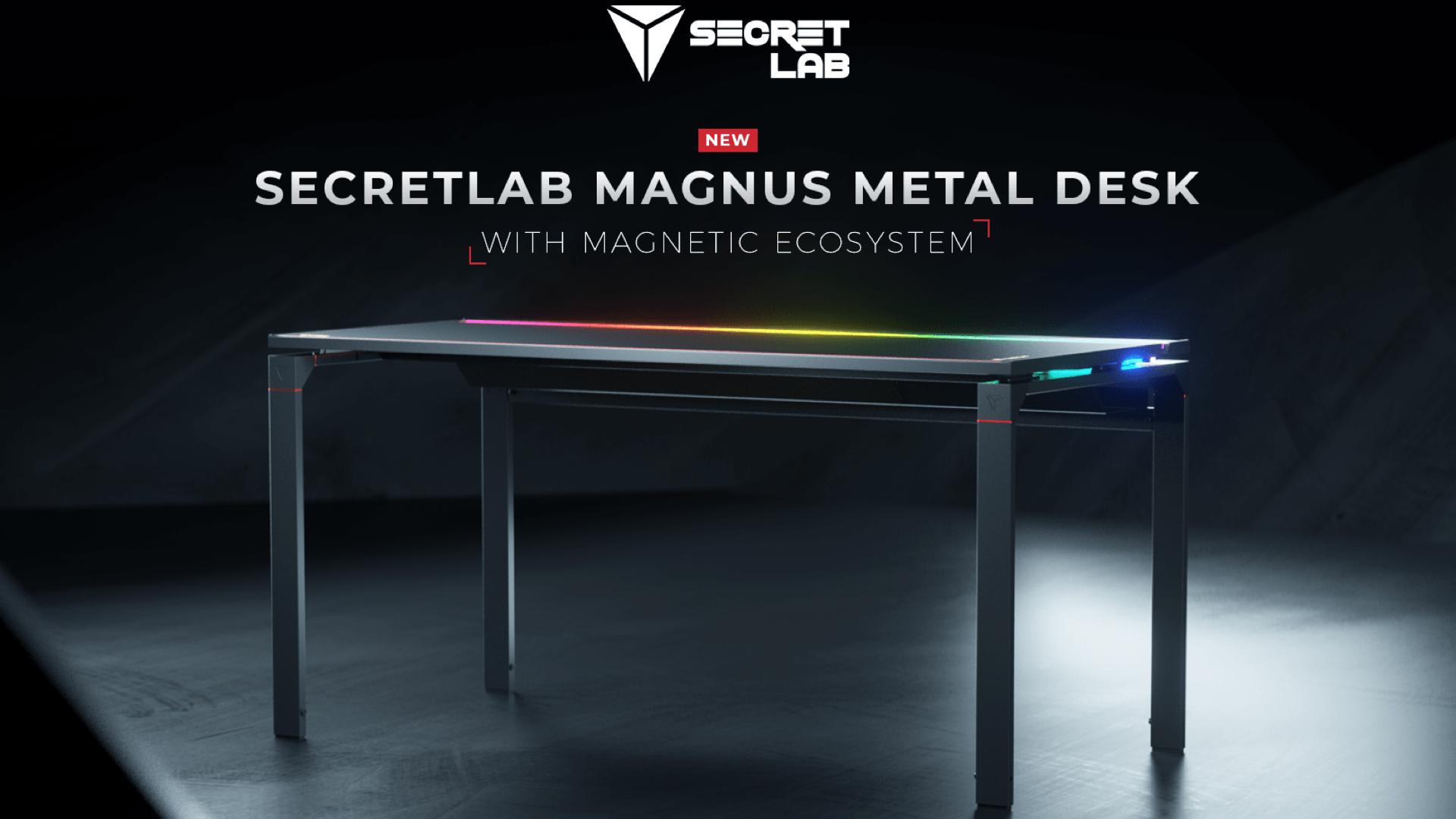 El primer escritorio de Secretlab ofrece accesorios magnéticos mágicos y luces RGB 12