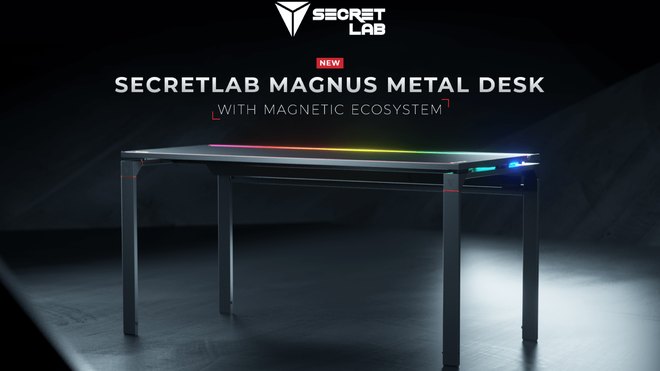 Secretlab's First Desk Offers Magical Magnetic Accessories and RGB Lights