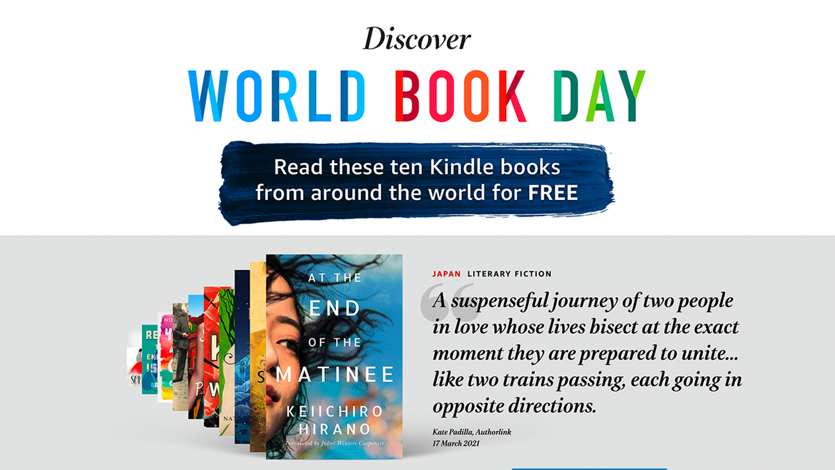 An illustration of Amazon's World Book Day offering.
