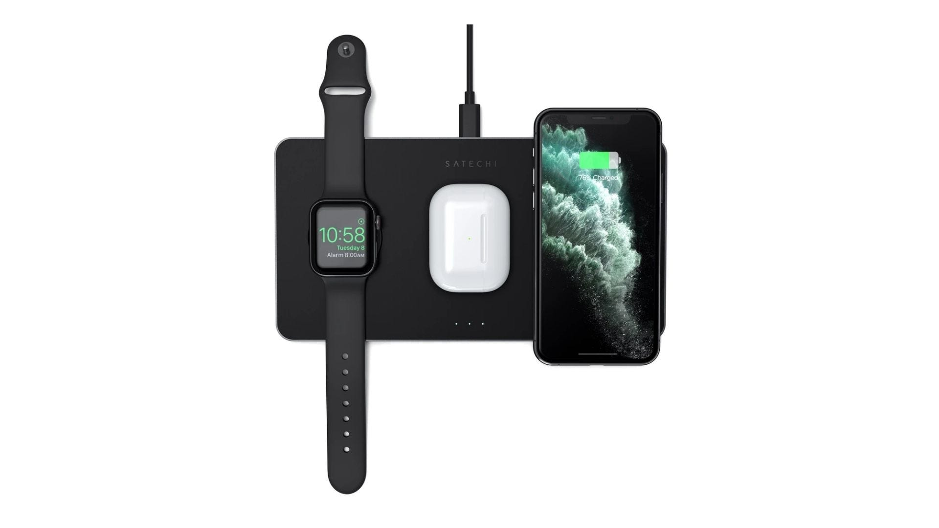 trio wireless charging pad from satechi