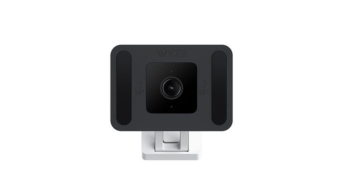 A Wyze Cam v3 attached to a Window mount