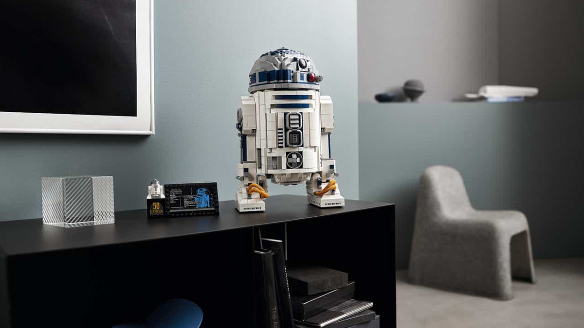 LEGO's new R2D2 on a table in a modern house