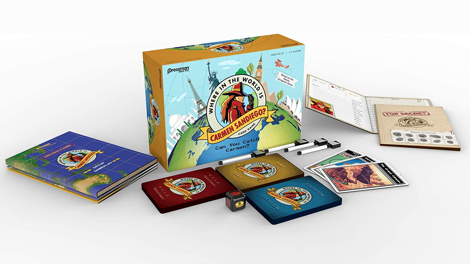 Where in the World is Carmen Sandiego? game box and components