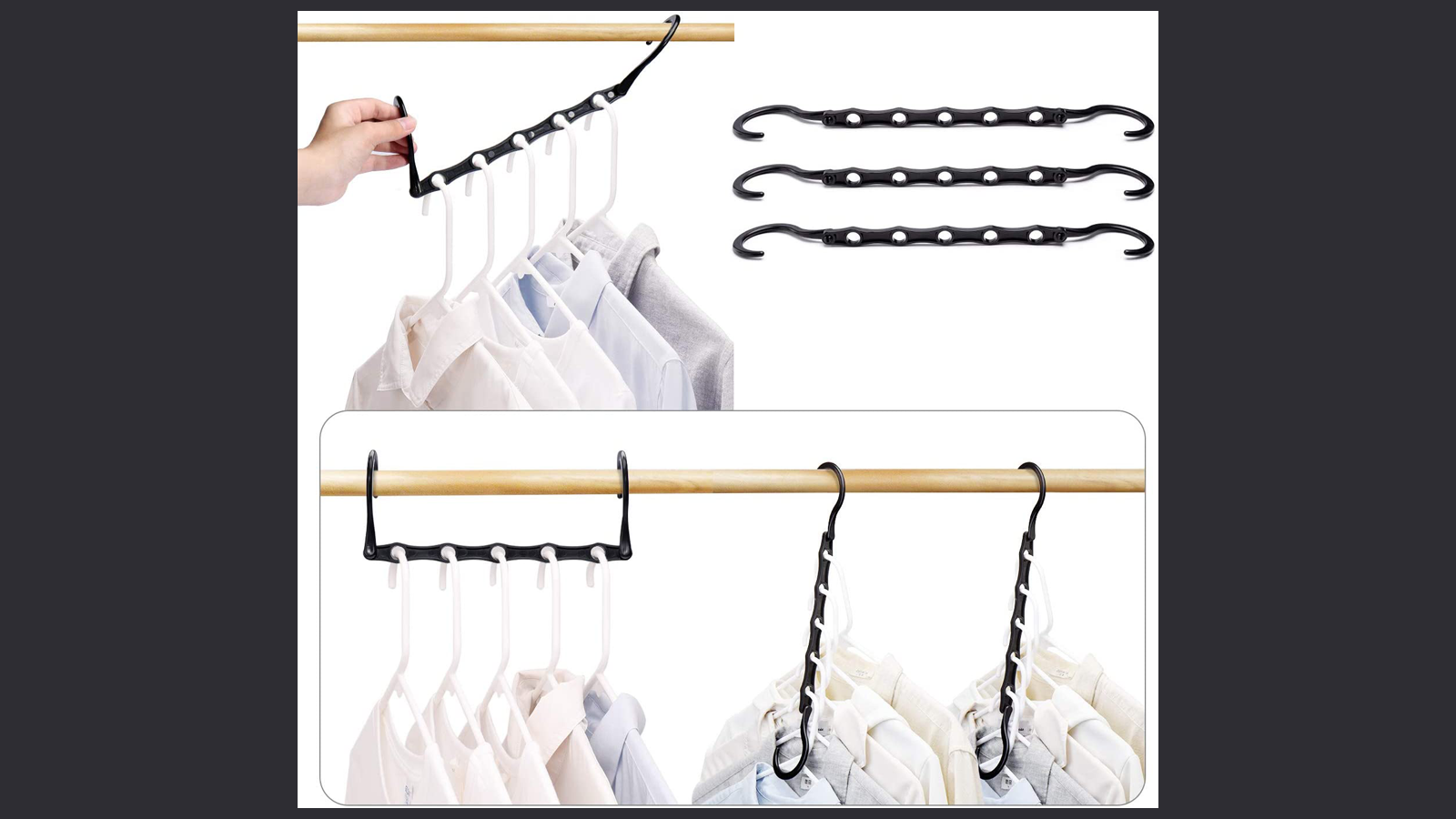 Save Precious Space in Your Closets with These Cascading Clothes Hangers