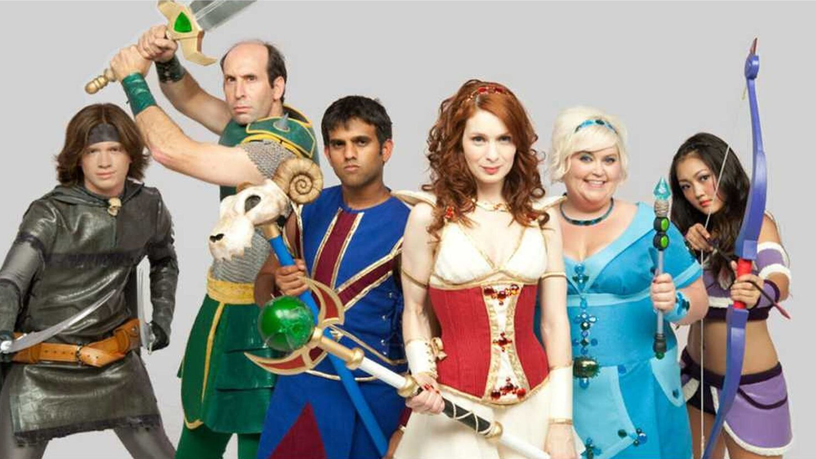 "The cast of ""The Guild"" dressed like their in-game characters"
