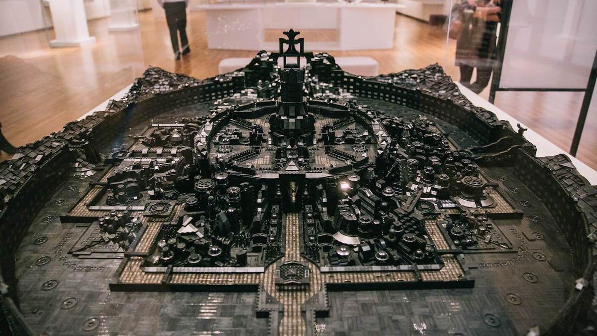 Artist Ekow Nimako's LEGO sculpture, titled 'Kumbi Saleh 3020 CE'
