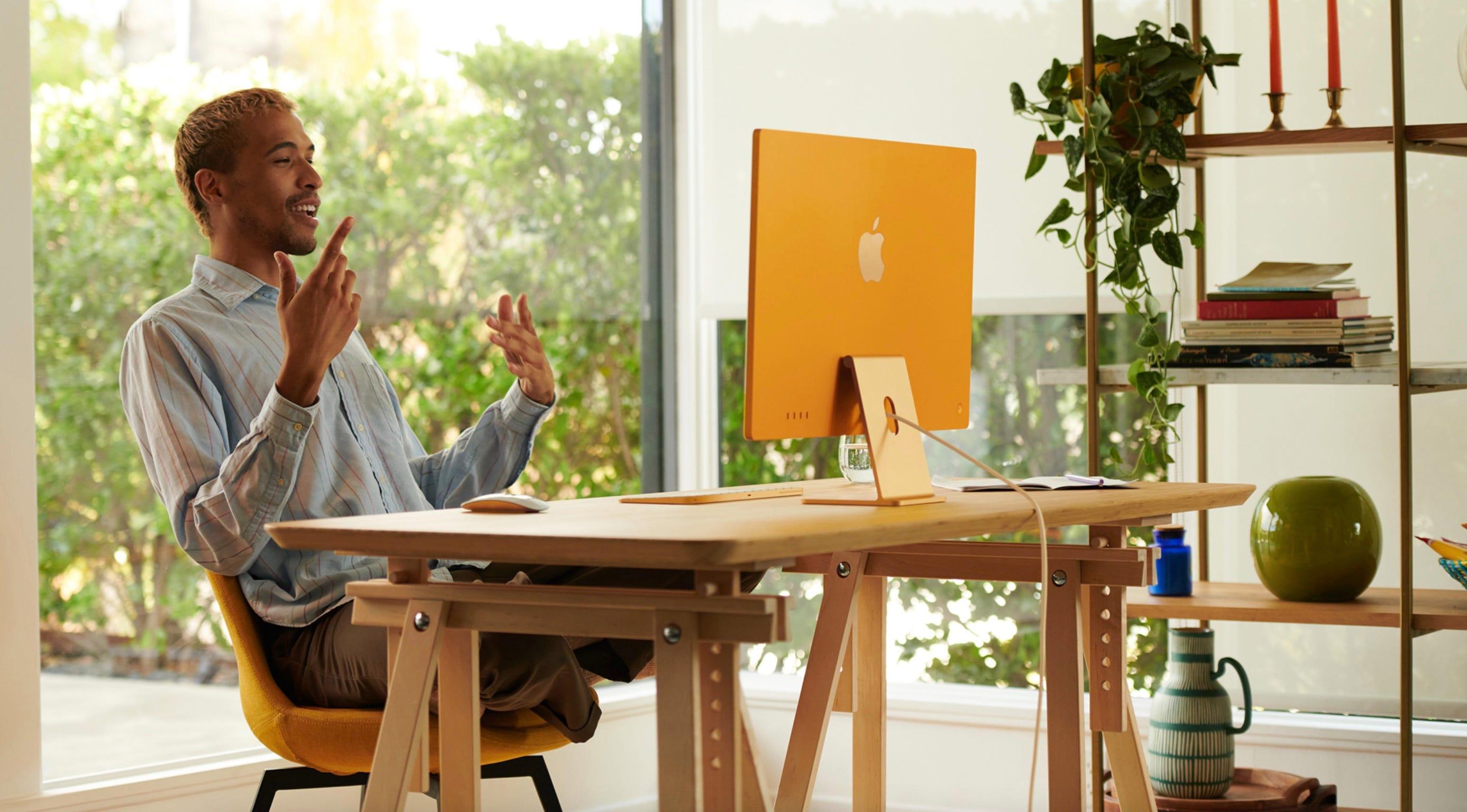 Orange 2021 iMac