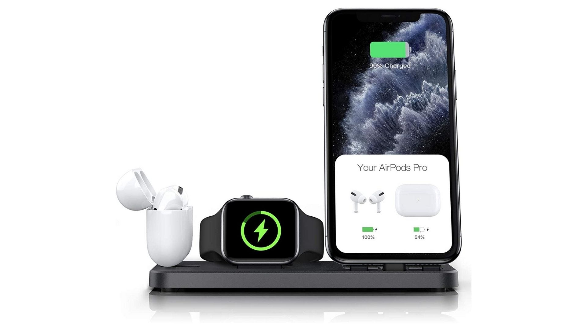 CEREECOO Portable 3-in-1 charging station for Apple products, foldable