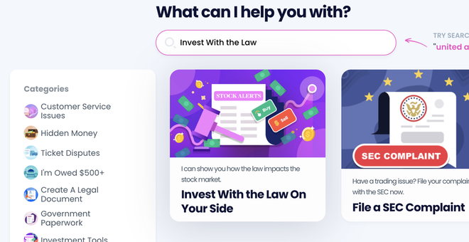 DoNotPay's Robot Lawyer Can Track Your Stocks Now, Too