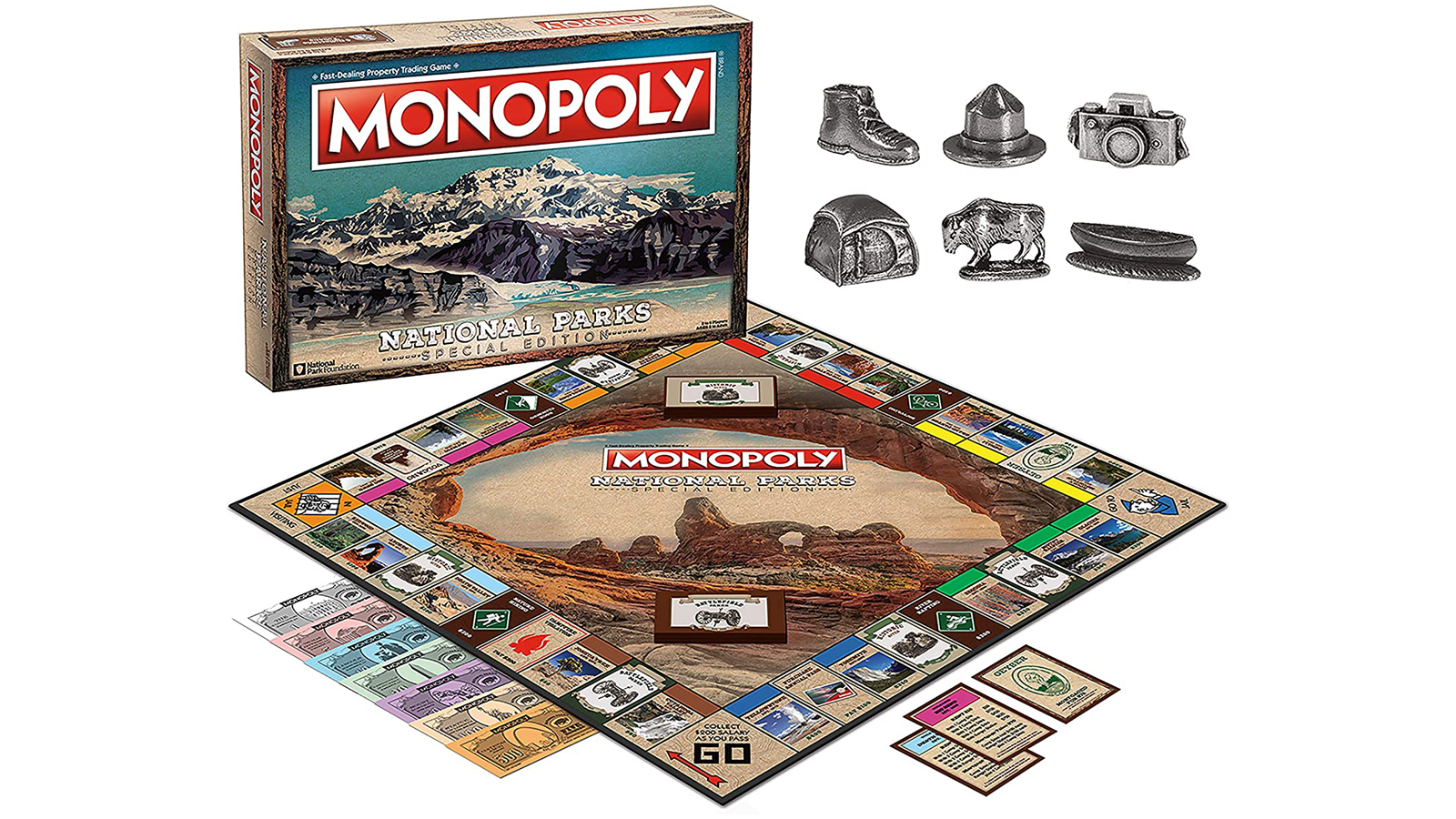 Monopoly National Parks box and game board