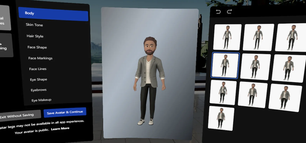Oculus Launches New Avatars, and They Actually Have Legs