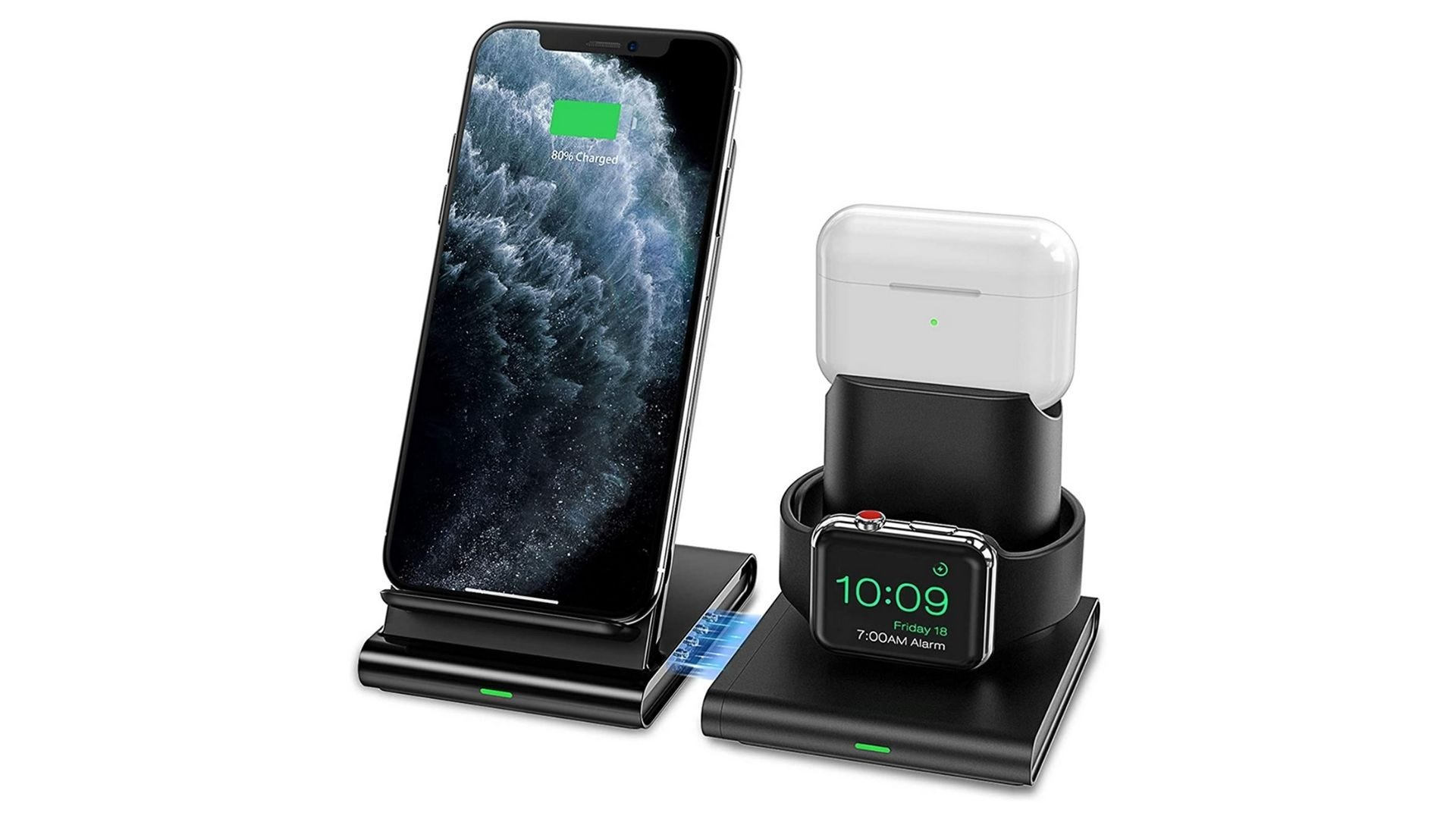 seneo wireless charger 3 in 1 apple watch iphone and airpods