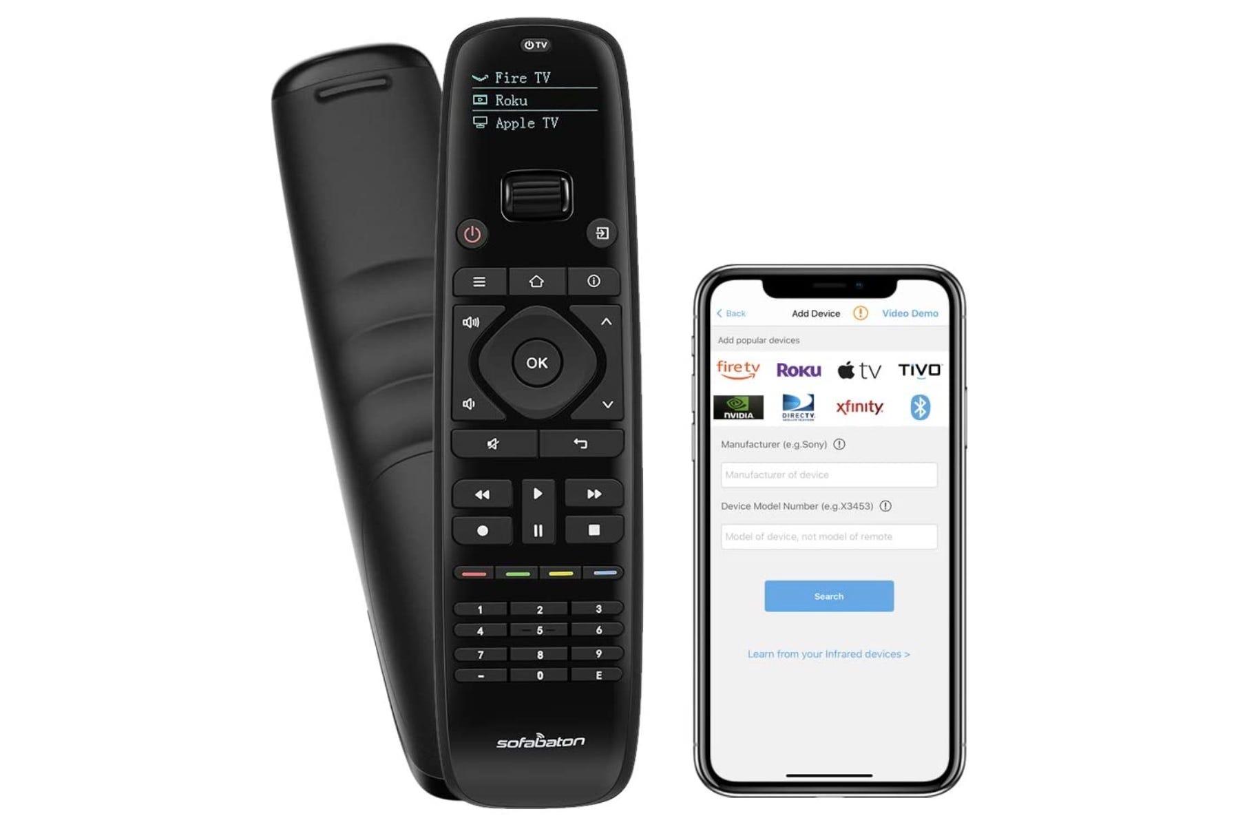 SofaBaton universal remote, Sofa baton remote