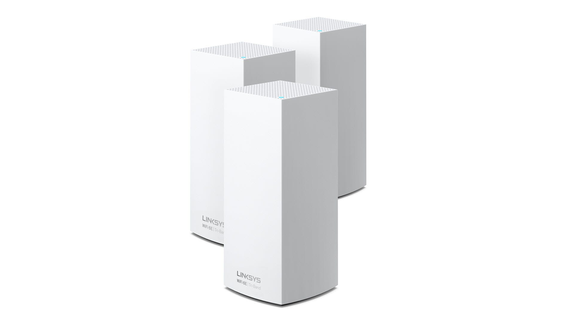 A three-pack Atlas Max 6E system on a white background