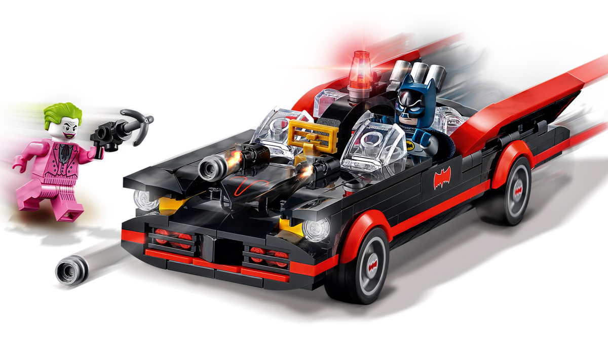 Batman classic TV Batmobile LEGO set with Batman and The Joker minifigures
