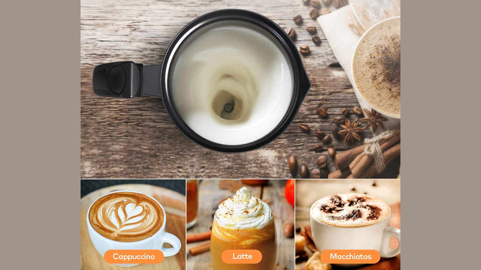 Get a Milk Frother and Make Your Favorite Foamy Coffee Drinks at Home