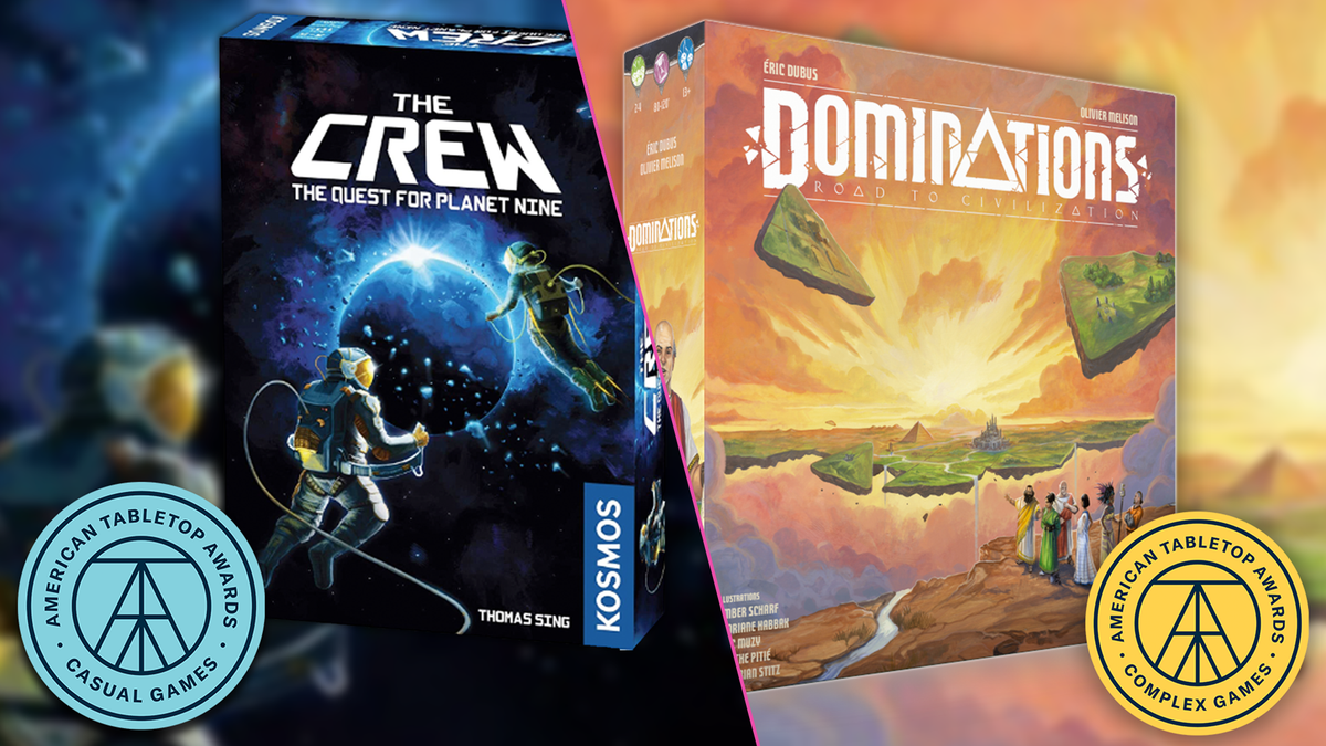 Two of the winning games from the American Tabletop Awards