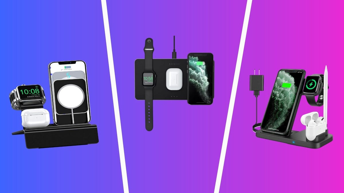 best charging docks for iphone, apple watch, and airpods