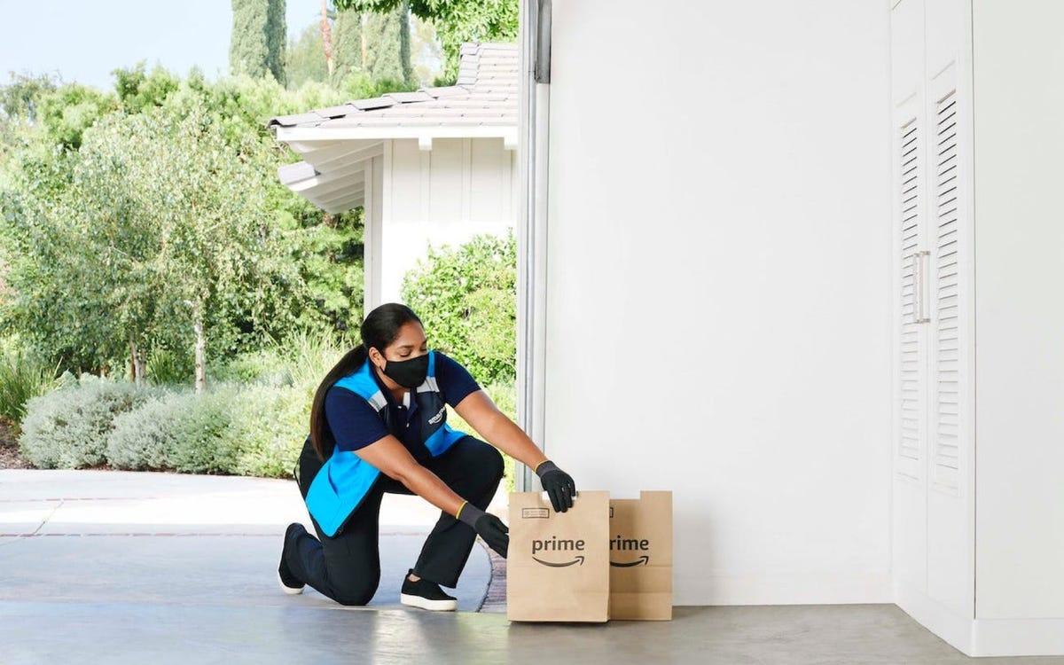 Amazon grocery garage delivery, amazon key