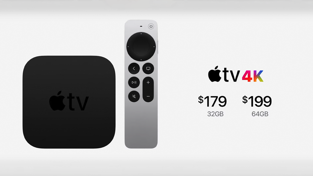 A photo of the Apple TV 4K and new Siri Remote