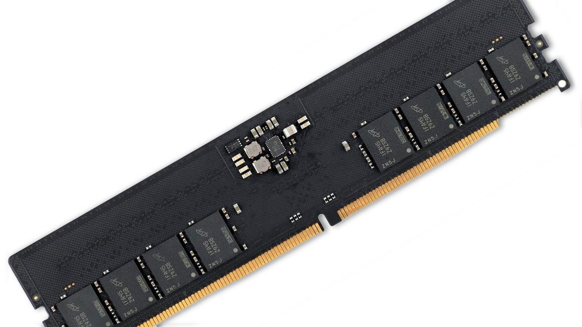 A DDR5 memory module.