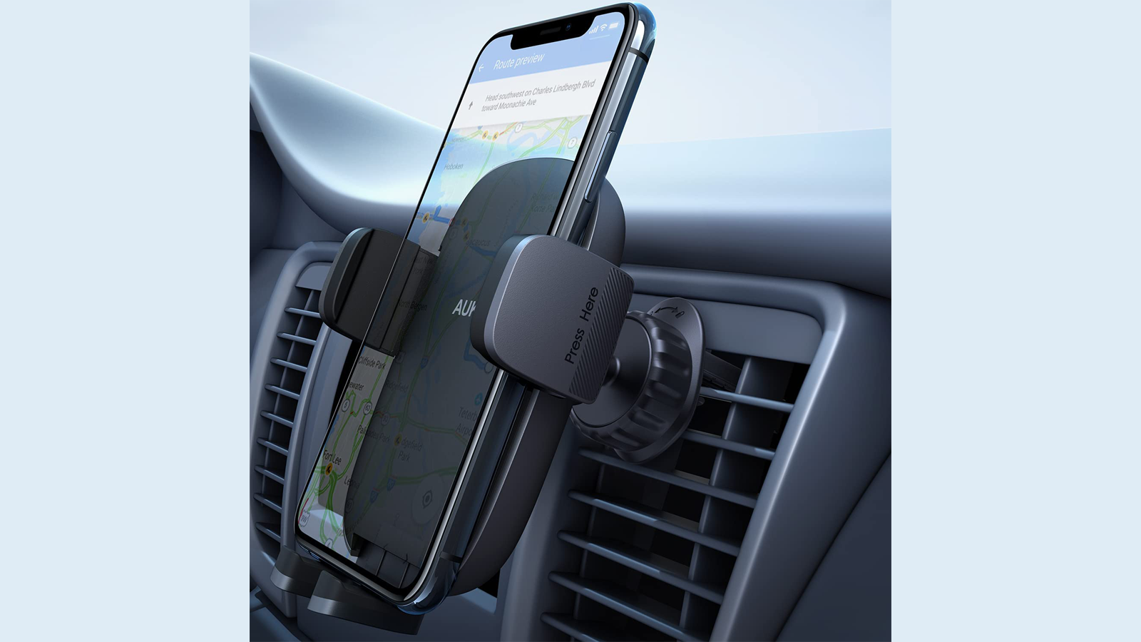 See Your Phone at a Glance with This Sleek Car Phone Holder