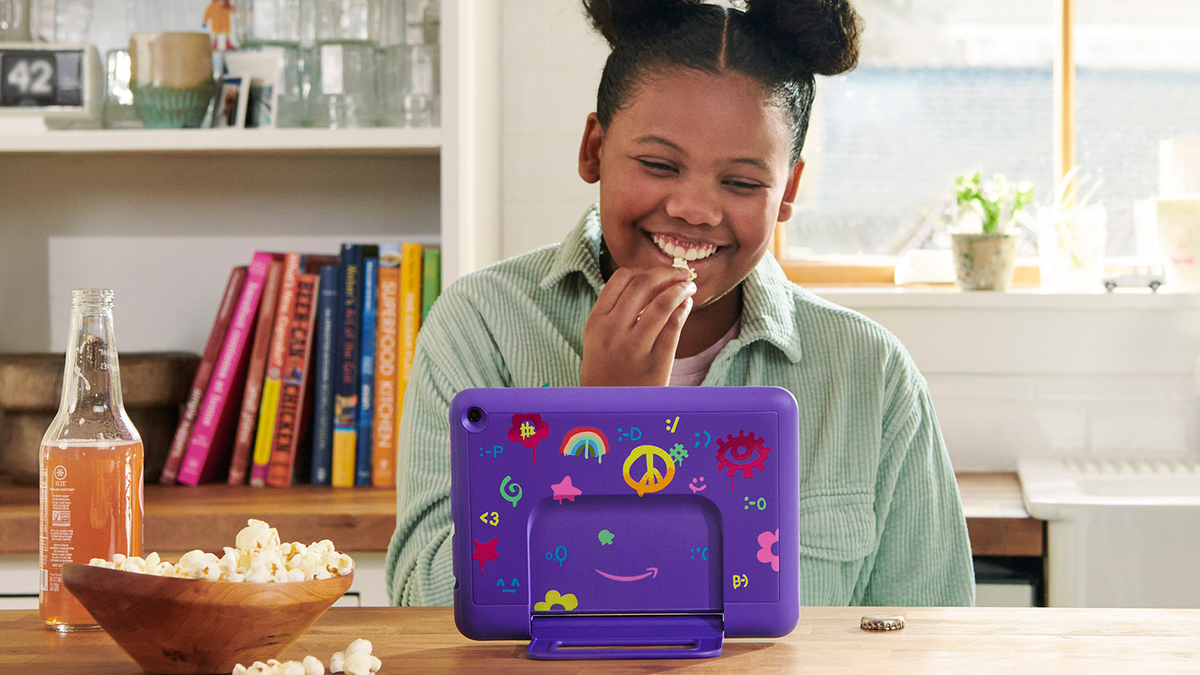 The new Fire HD 10 Kids tablet.