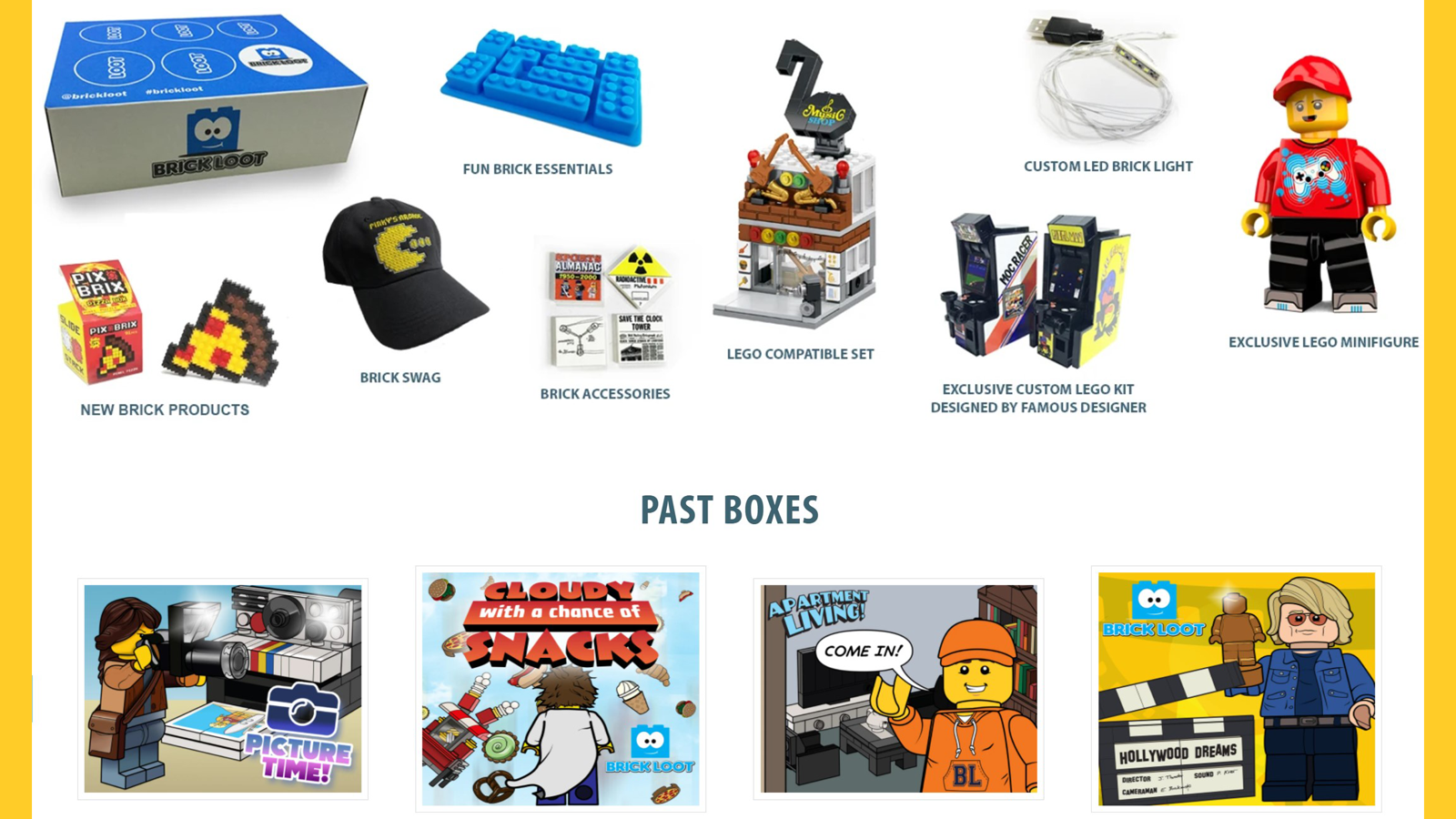 Item examples commonly found in the Brick Loot box