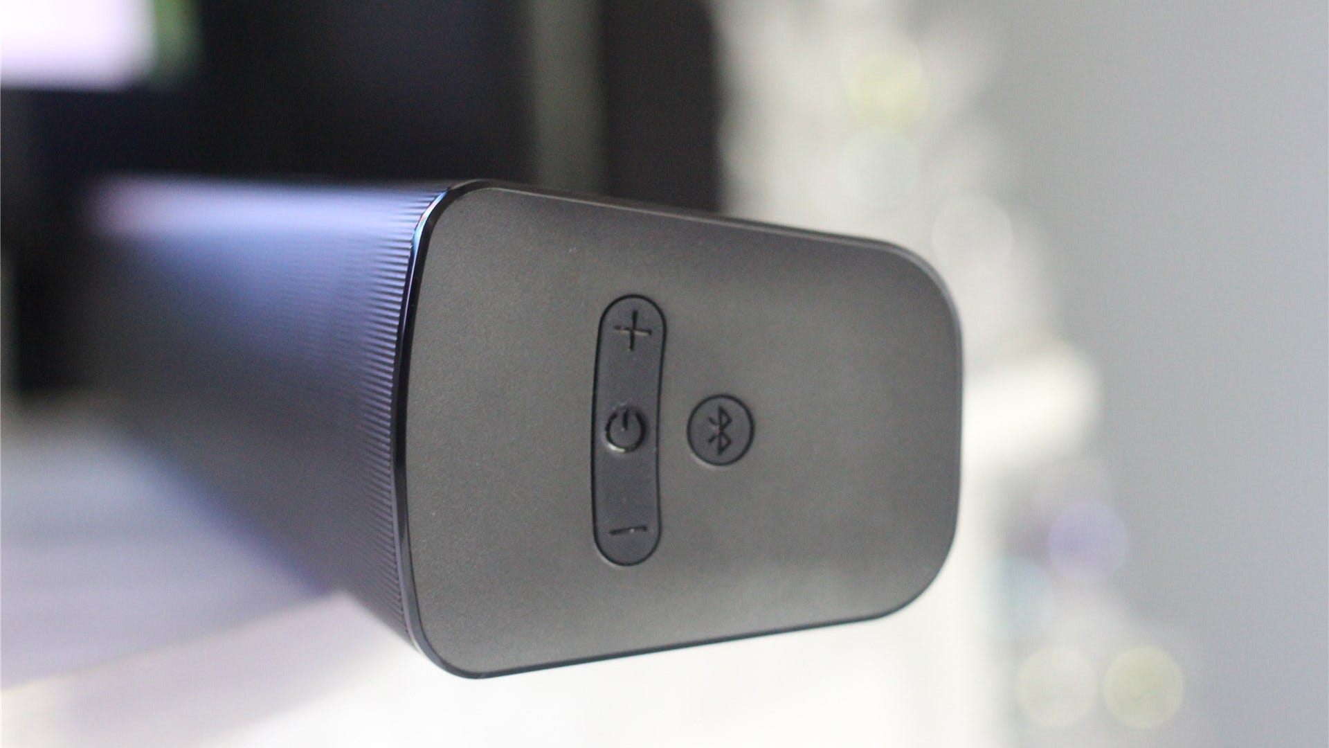 The Stage V2's power button, volume rocker, and Bluetooth button