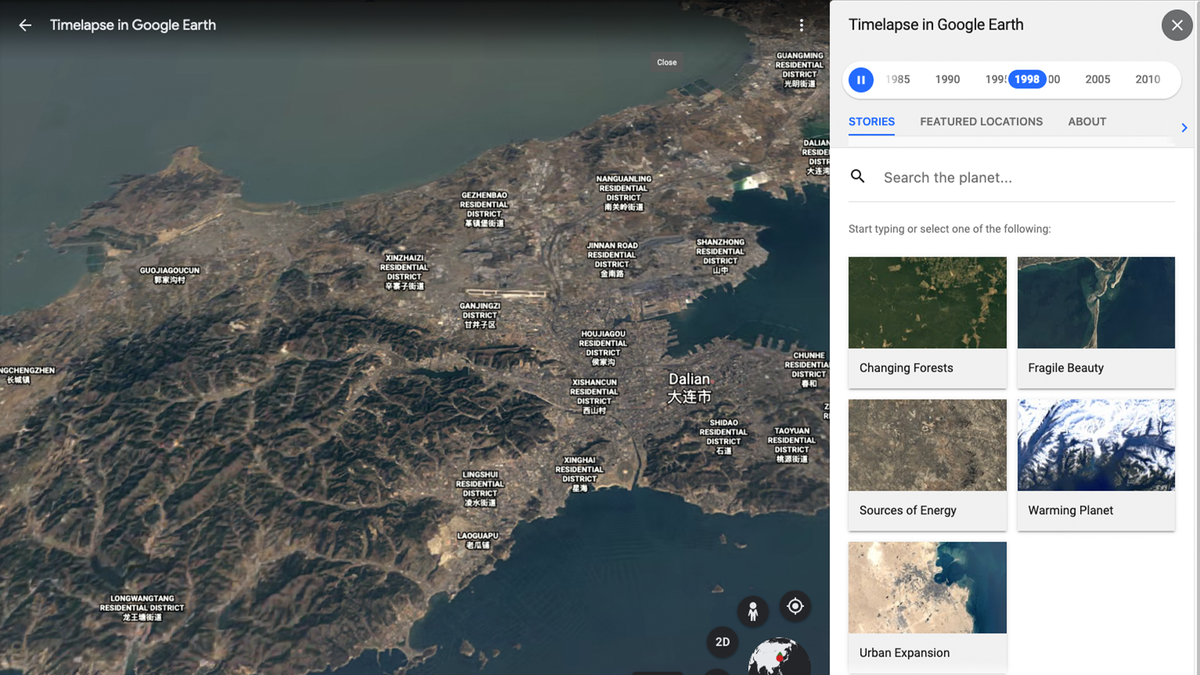 Google Earth's timelapse