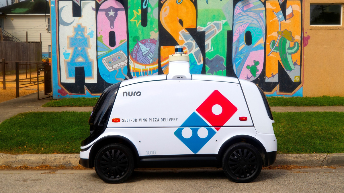The autonomous Domino's delivery robot.