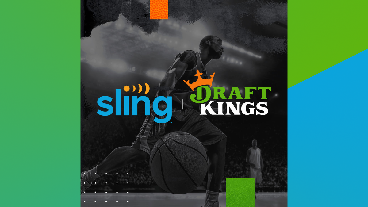 The Sling DraftKings banner.