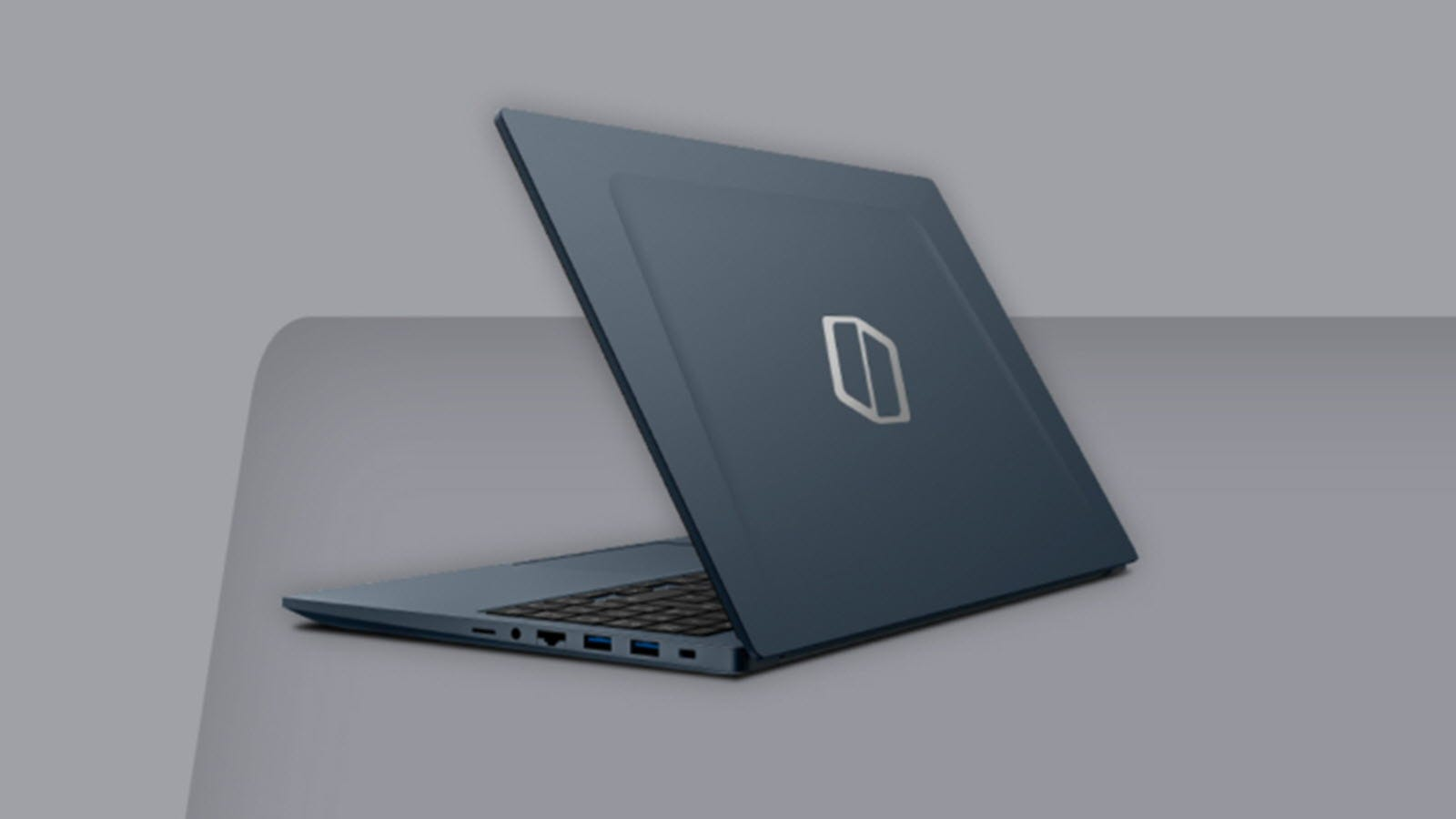 A Galaxy Book Odyssey seen from the back.