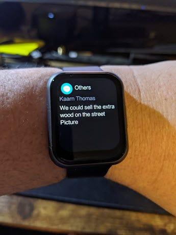 Watch 47 Text notification.