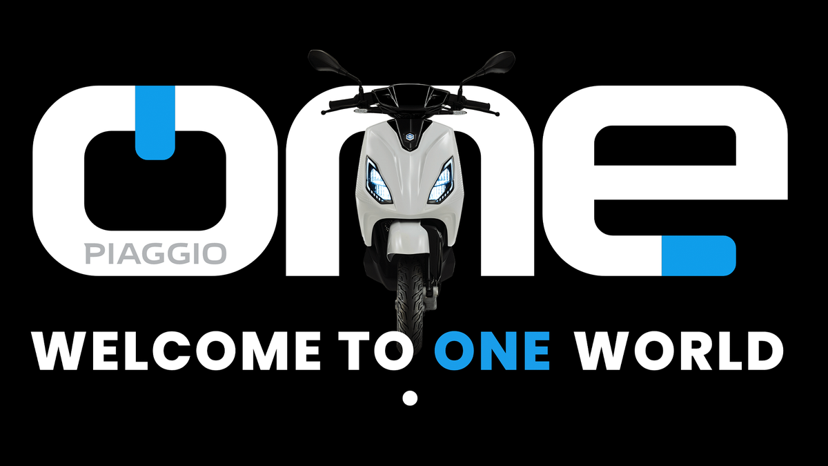 The Piaggio ONE banner.