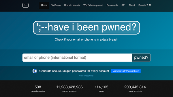 Have I Been Pwned's Password Program Is Now Open Source, Accepting Data from FBI