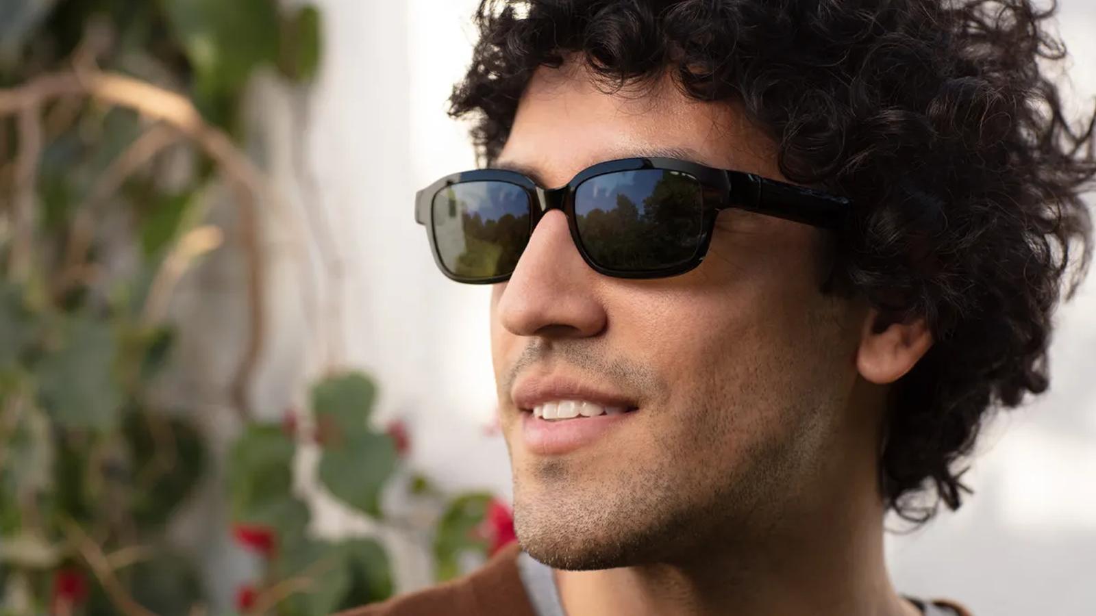 Amazon Echo Frames sunglasses on younger outside