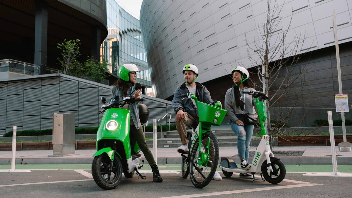 Lime bike, scooter, and moped