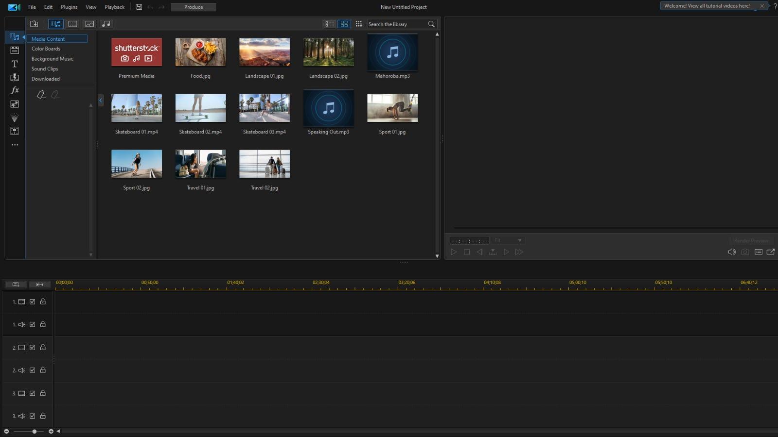 PowerDirectormain editing window
