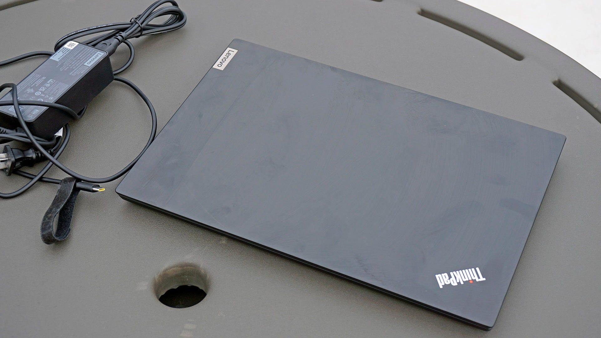ThinkPad E14 with power cord